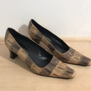 VIA SPIGA Women crocodile heels/shoes size 7